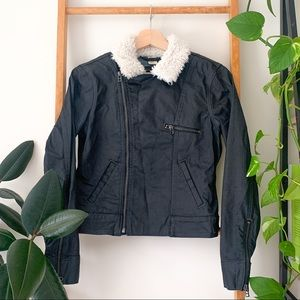 Levi's Motorcycle Aviator Faux Fur Collar Jacket